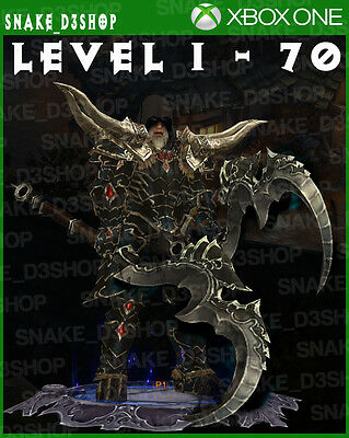 Diablo 3 Xbox One - Fully Modded Set Barbarian Wastes - Level 1 - 70