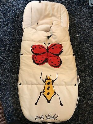Bugaboo Andy Warhol Happy Bugs Special Edition Footmuff Excellent Condition