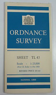 1960 old OS Ordnance Survey 1:25000 First Series map TL 43 Great Chishill
