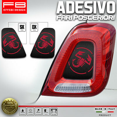 Adesivi Stickers Fiat 500 Abarth 595 695 Corse Fari Headlight Carbon Look Tuning