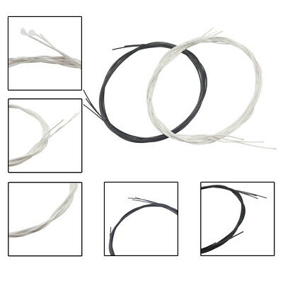 6pcs Guitar Strings Black Nylon Set for Classic Guitar Replacements Gifts
