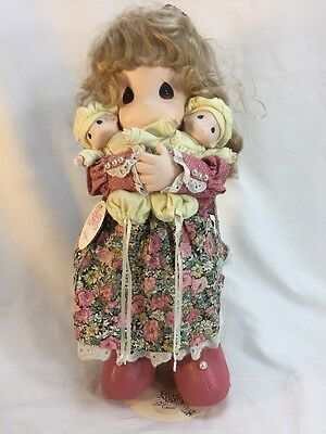 """PRECIOUS MOMENTS Susan & Twins Mommy I Love You Series 5th ED DOLL 16"""" W/tag"""