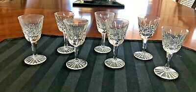 """7 Waterford Crystal Lismore Liqueur / Cordial Glass 3 1/2"""" - Mint"""