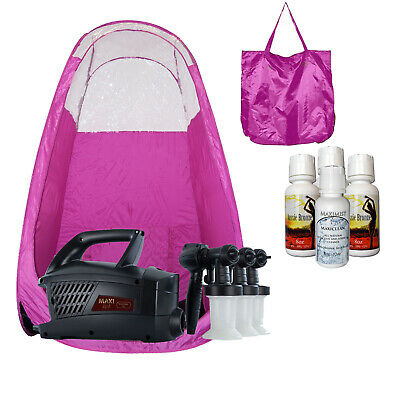 Maximist Evolution TNT Spraytan unit with 3 sprayheads, Pink Tent, TBT Spray