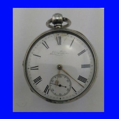 Rare Silver Edwin Flynn of London Slow Beat Fusee Lever Pocket Watch 1868
