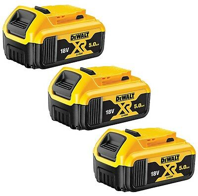 Genuine Dewalt 3X DCB184 18V XR Li-Ion 5.0AH Lithium Slide Battery