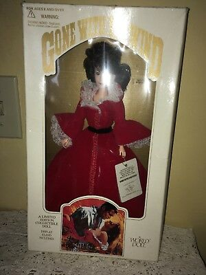 Gone With The Wind Scarlet O'Hara World Doll Red Dress 1989