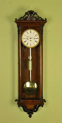 BIEDERMEIER VIENNA REGULATOR WALL CLOCK -P Peuker in Wein