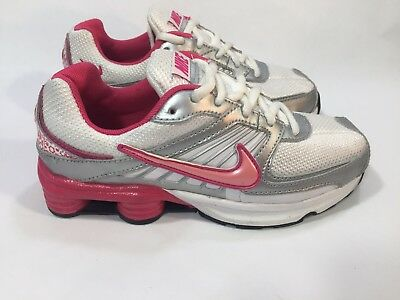 Nike Shox Turbo 8 White Pink Girls Kids Athletic Shoes 2008 SZ 2.5 VINTAGE  RARE 2c41023f9
