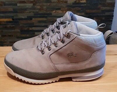 f3f9db8c83678 MENS LACOSTE UPTON Mid Leather Boots. Size 9. Grey - £5.95