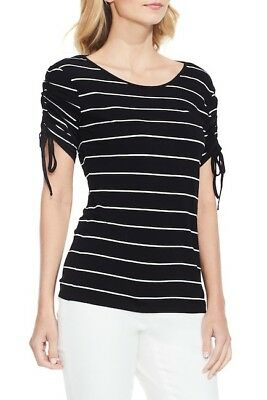 65193d8050e NWT Vince Camuto Drawstring Sleeve Stripe Top  79 Size XS