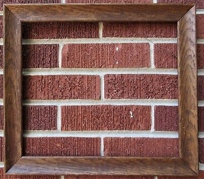 Antique Arts & Crafts VICTORIAN  Simple OAK Picture Frame 12 x 13 7/8 in. fit