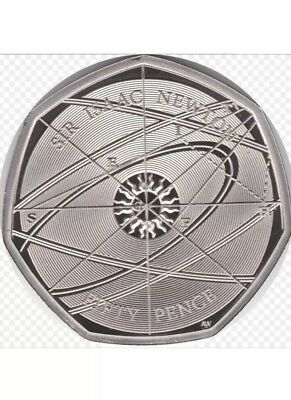 Sir Issac Newton 50p Fifty Pence Coin Rare Great British Coin Hunt Collectable.