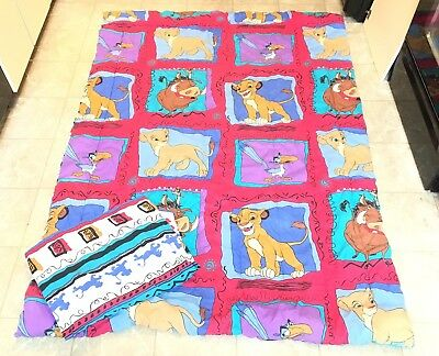 Vintage Disney The Lion King Twin Bed Reversible Comforter And Fitted Sheet