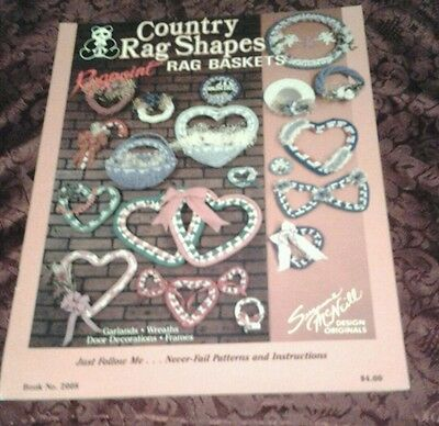 Country Rag Shapes Rag Baskets Garlands , Wreaths , Frames