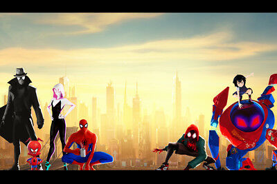 "Spider-man Spider-verse Gwen 36"" x 24"" Large Wall Poster Print Comic Decor Movie"
