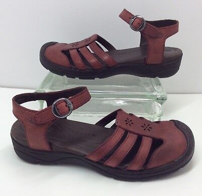 aa6354b80d5d KEEN Paradise Red Leather Adjustable Strappy Comfort Sandals Womens 7.5    38 EUR