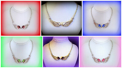 Silver Angel Wing Necklace~Mothers Day Birthday Gift For Her Mom Wife Girlfriend