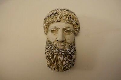 "dgo53 ANCIENT ANTIQUITY GREEK REPRODUCTION 3 3/4"" HIGH HEAD OF ZEUS"