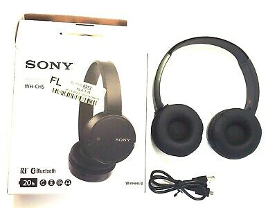 Authentic Sony WH-CH500 Wireless On-Ear Bluetooth Headphones Black WH-CH500