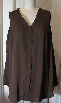 255298a1f6f2f CHICOS ROCKLEDGE BROWN COLD SHOULDER DANA BLOUSE sz 2 new -  22.99 ...