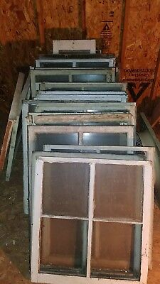 "31 3/4""×28 1/2"", 4 Pane Wood Window Rustic Antique Vintage Farmhouse Decor. Look"