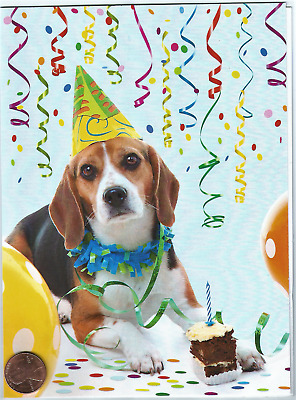 Adorable Beagle Puppy Dog Party Hat Cake Streamers