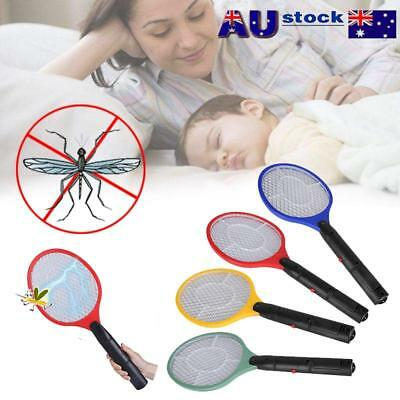 Electronic Swatter Mosquito Kill Electric Zapper Racket Operated Hand Racket AU