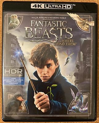 Fantastic Beasts And Where To Find Them 4K Ultr Hd Blu Ray 2 Disc Set Free Shipn