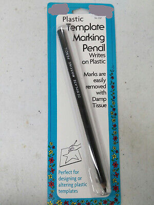Collins/Dritz Plastic Template Marking Pencil ~ Marks Plastic/Wipes Clean