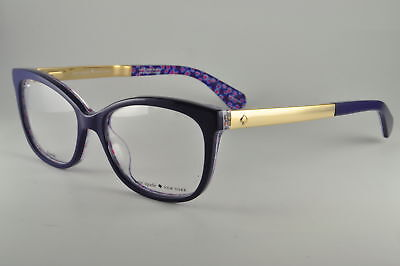 3323b024f9 NEW KATE SPADE KS Brylie Eyeglasses 0GF5 Blue Palladium Transparent ...