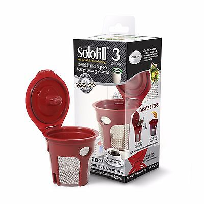 2 units of Solofill K3 Chrome Refillable Filter Cup for Keurig(R) 1st Generation