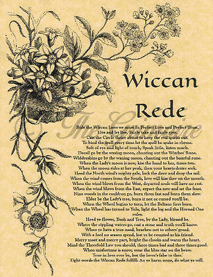 THE FULL WICCAN REDE, Book of Shadows Spells, Wicca, Witchcraft, Pagan