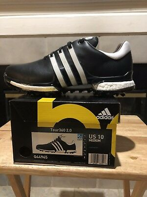 uk availability ded8a 2b368 New Adidas 2018 Tour 360 Boost 2.0 Mens Golf Shoes - BlackWhite