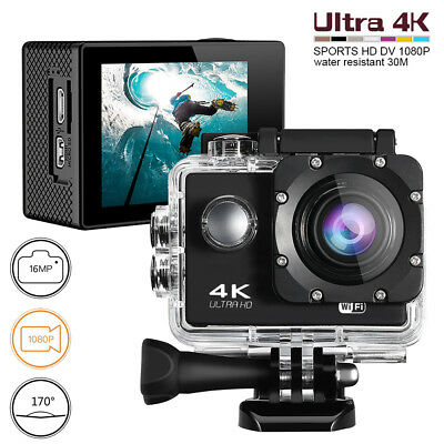 4K Sports Action Camera Ultra HD DV 16MP 1080p&Full Accessory Bundle US FastShip