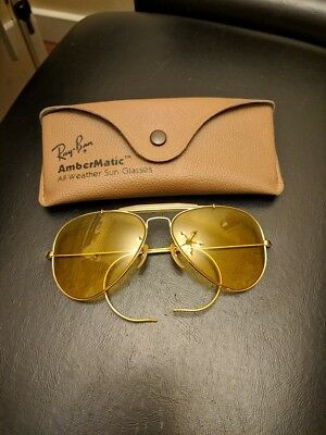 6e24eae1d8 Vintage Ray Ban Ambermatic Bausch   Lomb B L 58 14 Sunglasses HTF Very ...