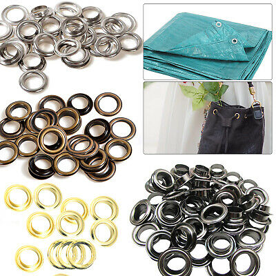 8mm Grommet Eyelet with Washer for Sewing Clothes Leathercraft Projects 100pcs