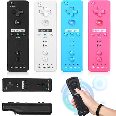 For Nintendo Wii Wii U Wiimote Built in Motion Plus Inside Remote Controller New