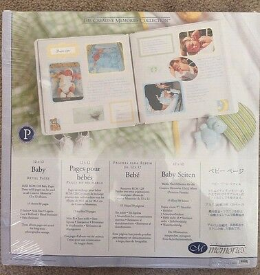 NIP Creative Memories 12X12 Baby Scrapbook Pages Old Style Boy or Girl