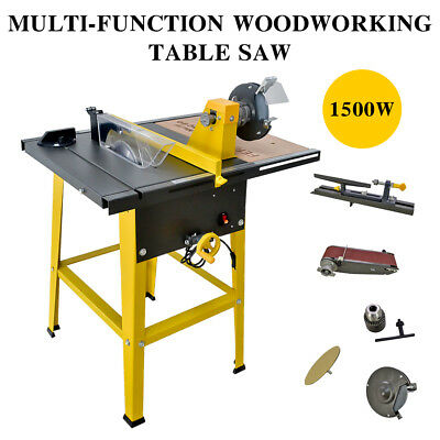 New 31''×24'' Multi-function Woodworking Table Saw Metal Wood Cutting Machine