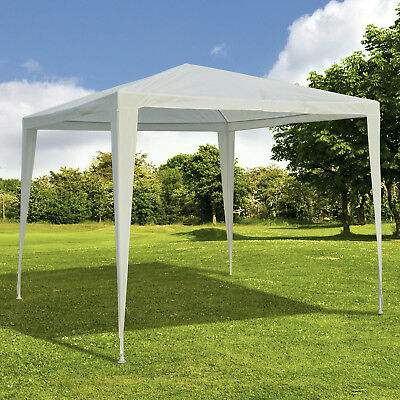 Outsunny 2.7x2.7M Garden Heavy Duty Gazebo Marquee Tent Wedding Canopy White