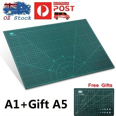 Australia A1 Self Healing Large Thick Cutting Mat Double Sided Cut Pad + Gift A5