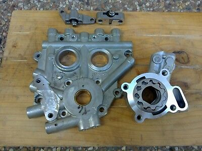 Harley Twin Cam 96 Cam Plate with Oil Pump and Hydraulic Tensioners