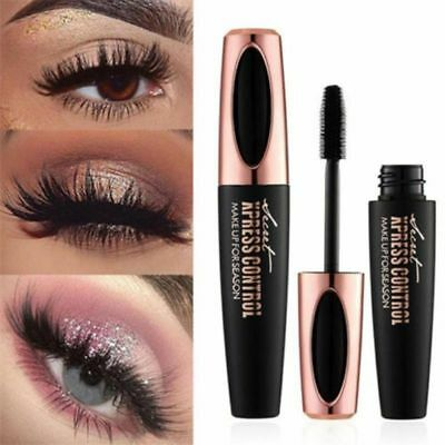 HOT 4D Silk Fiber Eyelash Mascara Voluminous Extension Makeup Black Waterproof