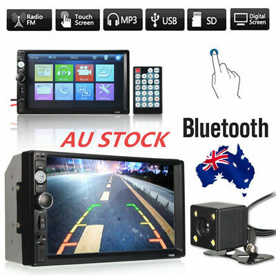 """7"""" Car Stereo MP3Player Double 2Din In Dash Touch bluetooth Radio Aux+Camera SD"""