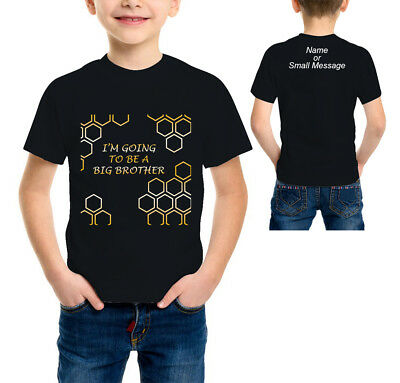 I am going to be a Big Brother Boys Cool  Funny T-shirt Gold Metallic 2