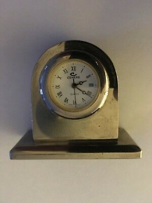 Cenere Silver Plated Mantle Clock