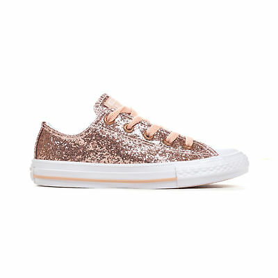 the latest a55ea 4ec73 CONVERSE CHUCK TAYLOR All Star Sparkle Ox Junior Trainer Dusk Pink