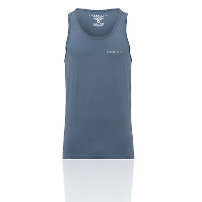 Higher State Mens Training Gym Fitness Singlet Blue Sports Running Breathable