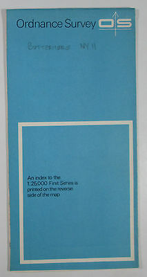 1961 old vintage OS Ordnance Survey 1:25000 First Series map NY 11 Buttermere